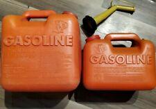 2 Vintage 2 gal & 1 gallon plastic gas can jug gasoline chilton can P20 & P10