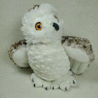 "Wild Republic Snowy Owl Realistic 12"" White Brown Soft Plush Stuffed Animal"