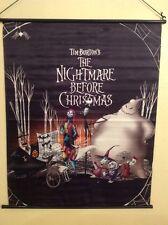 Tim Burton's Nightmare Before Christmas Fabric Wall Scroll Disney Movie Poster