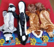 Pet Toys - Unstuffed Squeaky Pet Toy - Fox Racoon Beaver Skunk - Comfort