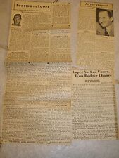 Lot of 3 Original Vintage News Clippings - Al Lopez HOF Catcher Manager Indians