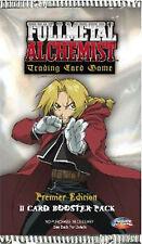 FullMetal Alchemist Premier Edition trading Card Game Booster Pack New Sealed