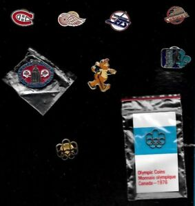 NHL HOCKEY MLB BASEBALL CFL FOOTBALL OLYMPIC LOGO PIN + MIX SEE LIST