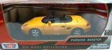 Porsche Boxster Yellow 1/24 Scale Diecast Car Model By Motor Max 73226