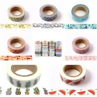 Quality Washi Masking Deco Tapes All Rolls 15mm x 10 Metres Free UK Postage