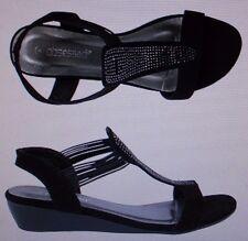 Womens Obsessed Panache Black Diamante Sandal Size 7