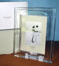 "Kate Spade Darling Point Crystal 5x7"" Frame Etched Mr. & Mrs. Wedding New"