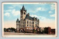 Jamestown NY, City Hall, New York Vintage Postcard