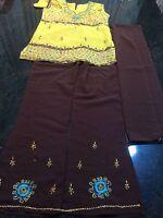 "34"" Salwar Kameez Bollywood Pant Dress Indian Girls Party Kids Wear Age 13 -14"