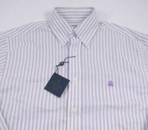 NWT Brooks Brothers Purple Stripe Original Polo Non-Iron Supima Size Small