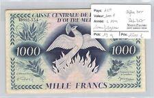 BILLET AEF - 1000 FRANCS - L1944 - CHIFFRES NOIRS - SANS FILIGRANE