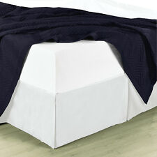 """Full Size Sophisticated Bed Skirt with 14"""" Drop Soft Solid 100% Microfiber"""