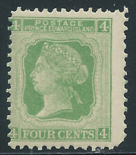 P.E.I. #14(6)1872 4 cent green QUEEN VICTORIA Perf 12 MNH CV$8.00