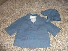 JANIE AND JACK 0-6 3-6 BLUE JACKET COAT W HAT FIRST PUPPY