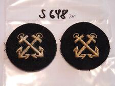 sd657 Marine und Handelsmarine Abzeichen Mützenkranz golden 1 Stück