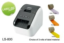 BROTHER QL800 LABEL PRINTER SANDWICH FOOD CHOCOLATE ALLERGENS FREE LABELS