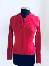 Pick 1 Fit women Petite S  Vintage Hoodie Turtleneck Red Sweater