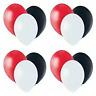 "12"" x 60 Red,Black,White Helium Balloons,Casion,Poker Colour Theme Party Decor"