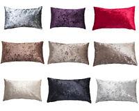 """Rectangle Scatter Crushed Velvet Cushion Pillow 11"""" x 21"""""""