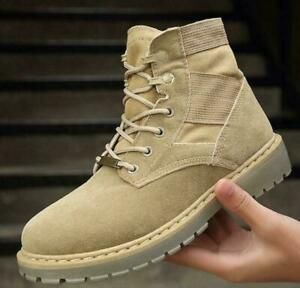 Mens Outdoor Army Military Combat Ankle Boots Hiking Desert Casual Shoes