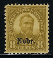 SCOTT 677 1929 8 CENT GRANT NEBRASKA OVERPRINT ISSUE MNH OG F-VF CAT $36!