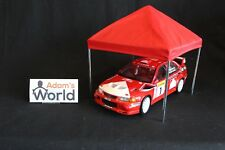 American Diorama Rally Service tent 1:18 chrome / red /blue