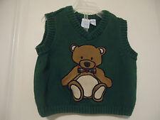 J Khaki Baby Size 12 M Vest Red Teddy Bear Green