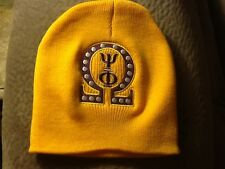 Omega Psi Phi Gold (Gold/Purple)  EMBROIDERED BEANIE/SCULL CAP