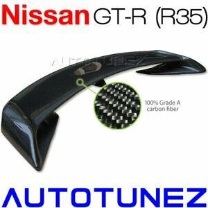 Carbon Fiber Rear Spoiler Wing For Nissan GT-R R35 Skyline Spec-V GTR Car Tunez