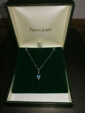 9ct White Gold Necklace And Earrings Set