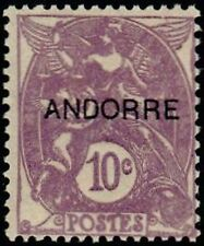 "ANDORRE FRANCAIS STAMP TIMBRE N° 6 ""  BLANC 10 C. VIOLET "" NEUF x TB"
