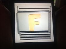 NOMINATION Classic Gold Letter F Link RRP £18 Authentic 030101/06 U V P G I Y