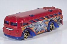 Hot Wheels Surfin School Bus Graffiti Transit Red Blue