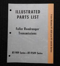 1972 FULLER RT-909 RT-9509 SERIES ROADRANGER TRANSMISSIONS PARTS CATALOG MANUAL