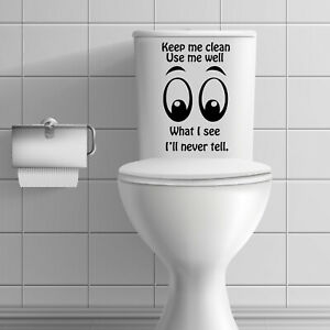 Toilet quotes funny stickers decals bathroom wall tiles toilet seat home  #AT#ST