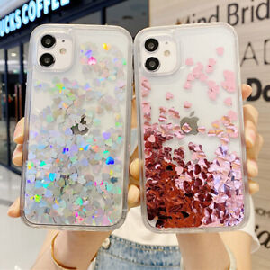 Dynamic Liquid Glitter Quicksand Clear Case For iPhone 12 11 Pro MAX XR 8 7 SE 2