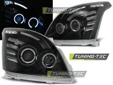 FARI ANTERIORI HEADLIGHTS TOYOTA LAND CRUISER 120 03-09 ANGEL EYES BLACK*1324