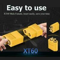 20pcs XT-60 XT60 Male Female Bullet Connectors RC Lipo Plugs New Nylon Z3C4 F1M7