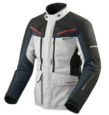 GIACCA JACKET MOTO REV'IT REVIT SAFARI 3 SILVER BLU H2O WATERPROOF TG M