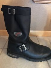 Red Wing Men's 9 E2 Black Leather 970 Engineer Biker Motorcycle Boots