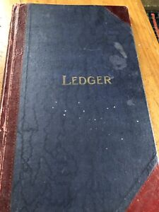 Vintage Ledger Book Craft Crafting Crafter Old Paper Stock Blank Pages Decoupage