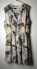 I Heart Ronson Womens Sleeveless Shirt Dress Size XL Multi-Color Pastel Floral