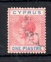 Cyprus KGV 1921 1pi fine used SG#89 WS13540