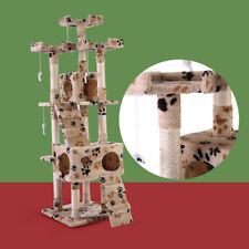 """New listing Pet Kitty Play House New 67"""" Cat Tree Tower Condo Furniture Scratching Post"""