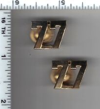 77th Precinct Police Collar Brass Set - from the New York City/New Jersey Area