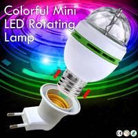 E27 3W RGB Crystal Ball Auto Rotating LED Stage Light Bulb Disco Party Bulb Lamp