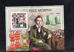 St. Thomas & Prince 2009 Paul Morphy Chess Master Imperf Minisheet MNH Sc 2172