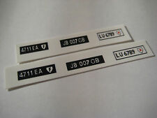 Corgi  271 James Bond DB5  Number Plates [ White ] Stickers - B2G1F