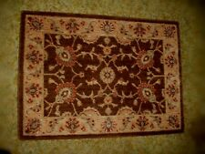 """Shaw Living Accent Rug 2' x 2'9"""" Antique Cocoa/Browns/Burgundy Floral/Coventry"""