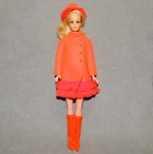 Barbie 1970s Doll & Fashion VINTAGE Walking JAMIE Fiery Felt Coat & Hat